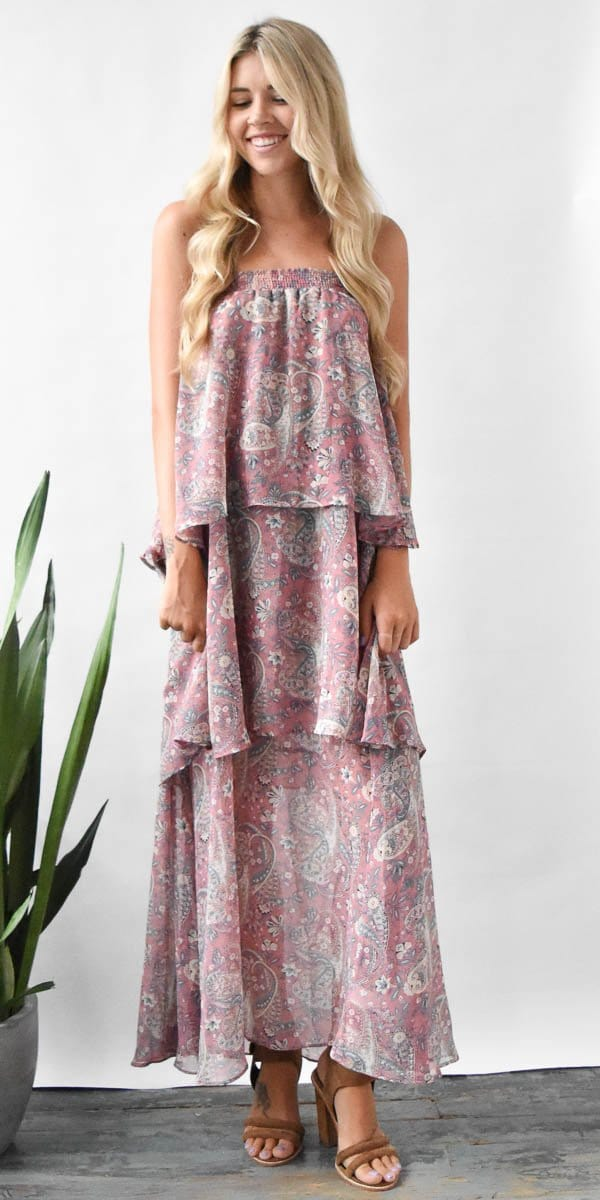 Show Me Your Mumu Karla Convertible Skirt Dress in Blushing Paisley