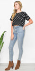 East n West Helm Polka Dot Crop Top