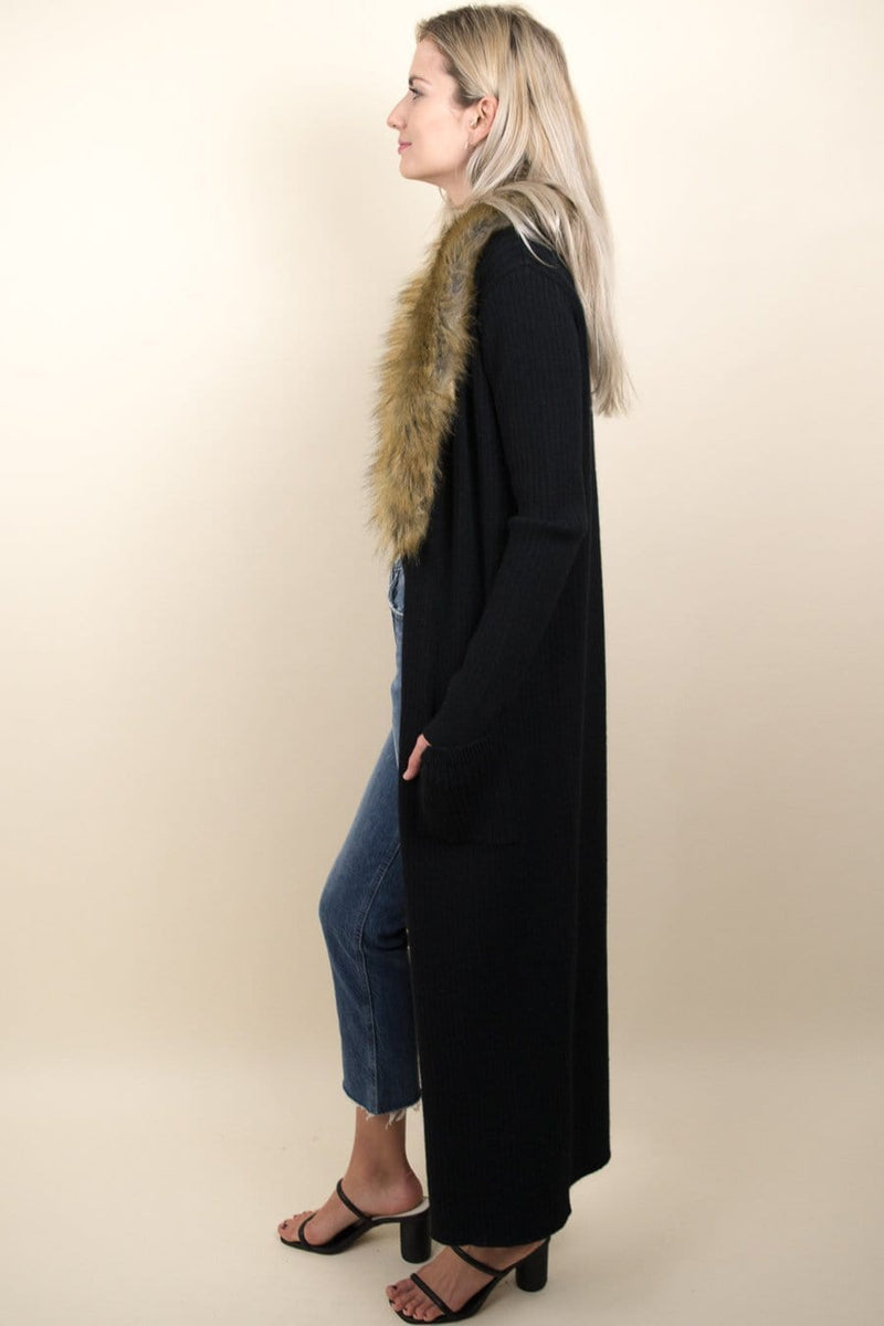 Show Me Your Mumu Lombardi Long Cardi Black