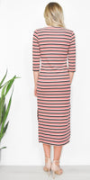The Fifth Label Parade Stripe Midi Dress in Multi