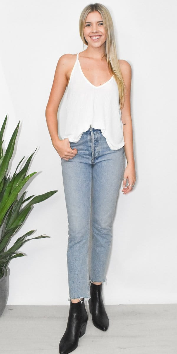 Free People Slinky Slink Tank in Off White
