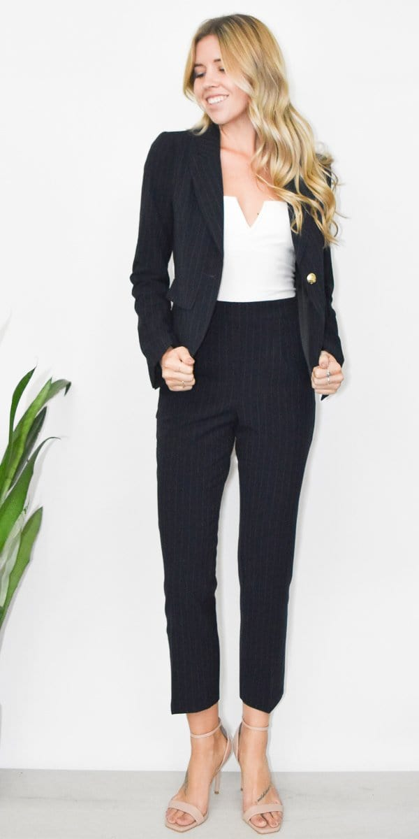 Gentle Fawn Newton Blazer in Navy Stripe