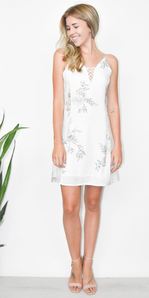 Gentle Fawn Nikola Dress in Sketch White Alyssum