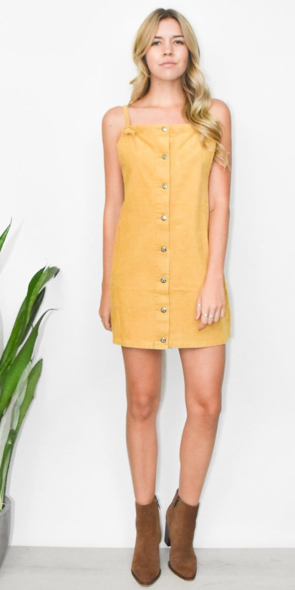 Somedays Lovin' Rising Sun Pinafore Dress in Butter
