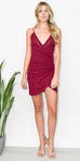 Free People Dylan Bodycon Dress in Wine