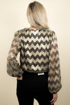 ASTR The Label Primadonna Top Gold Chevron