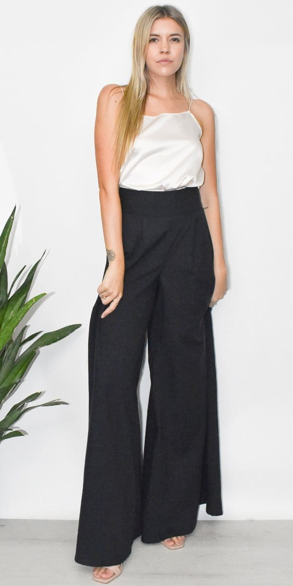 GOLDYN Florence Wide Leg Pant in Denim
