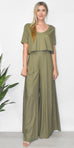 GOLDYN Florence Wide Leg Pant in OIive Green