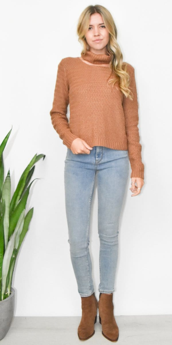 Endless Rose Textured Choker Sweater