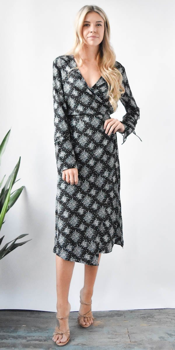 The Fifth Label Emergent Long Sleeve Dress in Black firefly