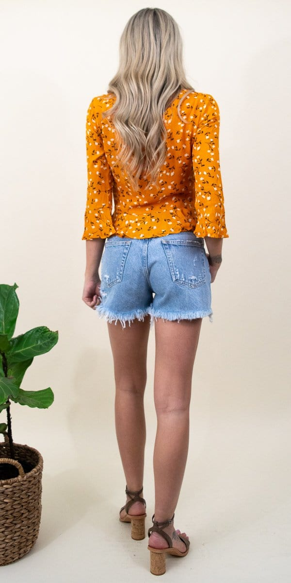 MINKPINK Delicate Daze Blouse in Orange Multi