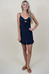 MINKPINK Safari Star Light Mini Dress in Navy