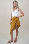 MINKPINK Shady Sarong Skirt in Mustard
