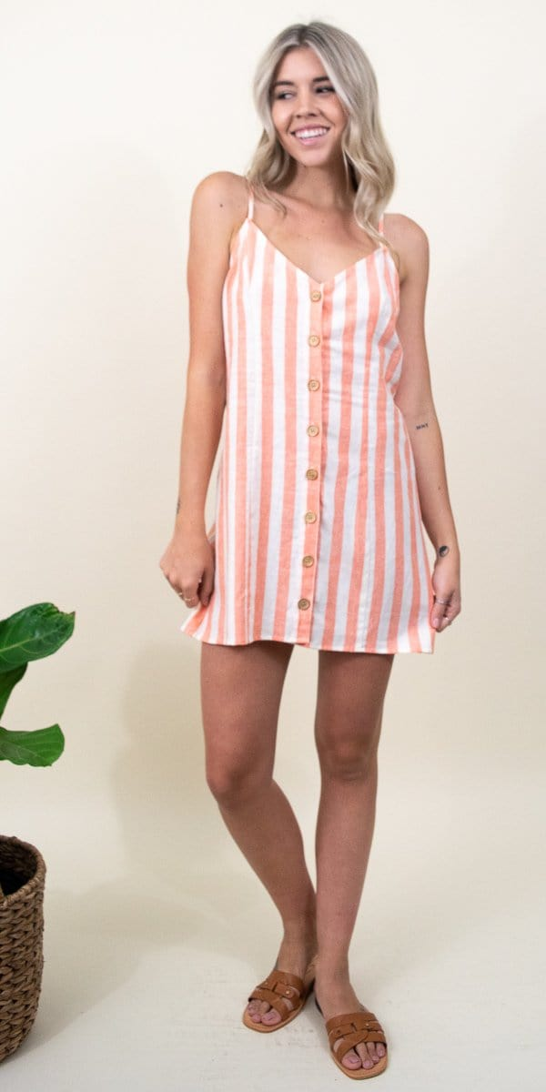 Show Me Your Mumu Remington Dress in Dreamsicle Stripe Linen