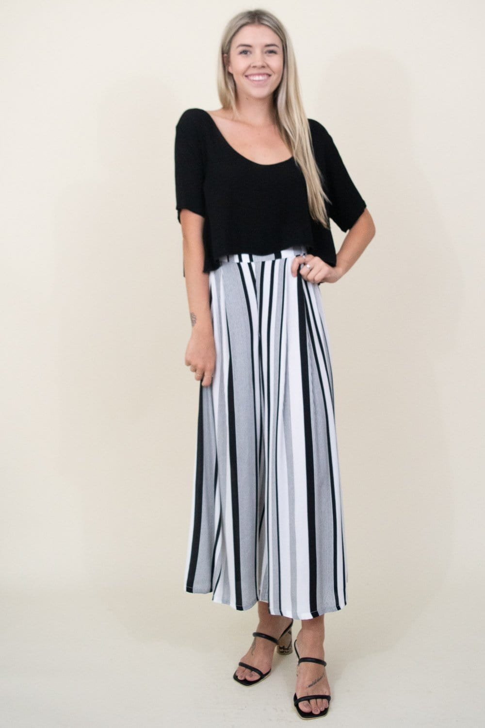 GOLDYN Perfect Palazzo Pant in Black Stripe  | Wild Dove Boutique | San Diego, CA