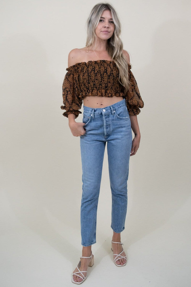 Le Reveur Trendy Smocked Crop Top  | Wild Dove Boutique | San Diego, CA