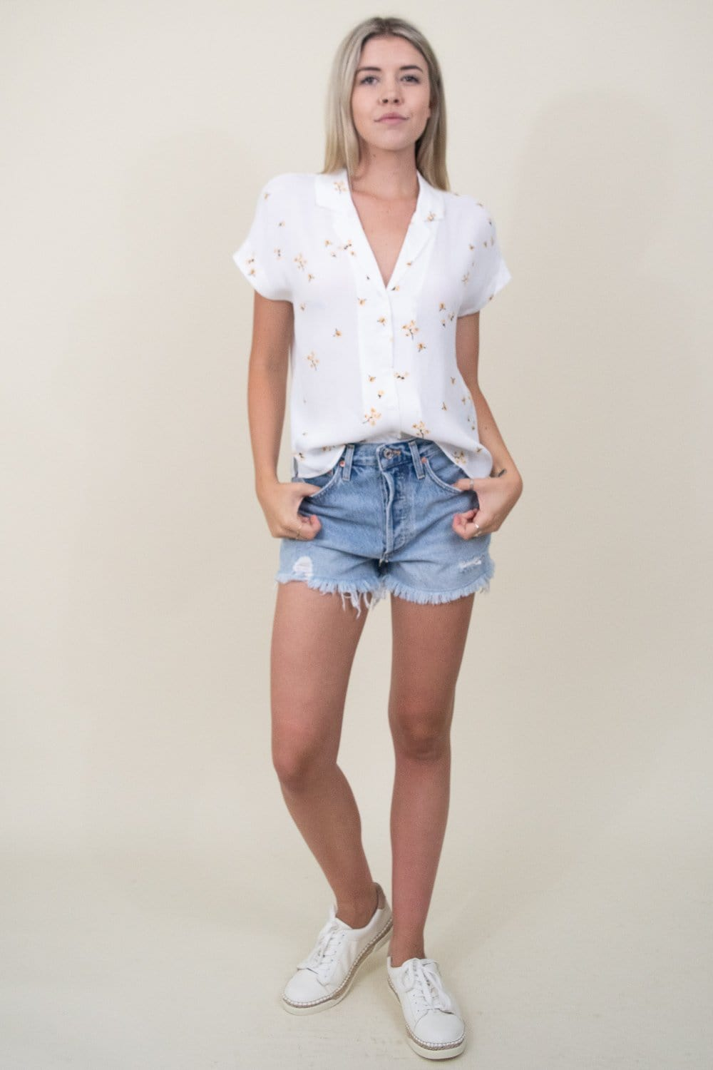 Gentle Fawn Electra Top in White Rosebud