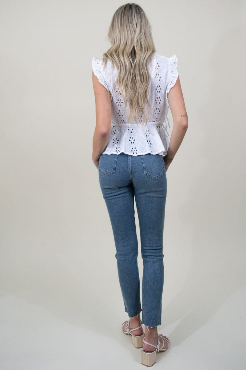 MINKPINK All Your Own Top in White Eyelet