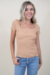 Retro Stripe Knit Tee in Orange Spice Stripe | Wild Dove Boutique | San Diego, CA