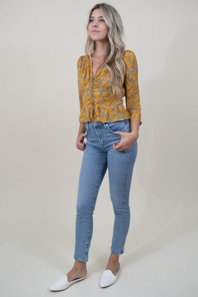 Heartloom Teagan Top in Marigold