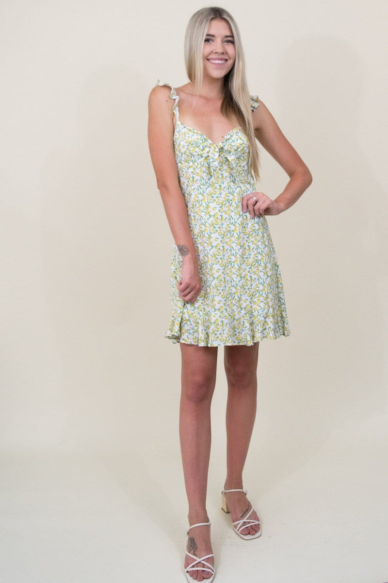 ASTR The Label Marla Mini Dress in Lemon Drop | Wild Dove Boutique | San Diego, CA