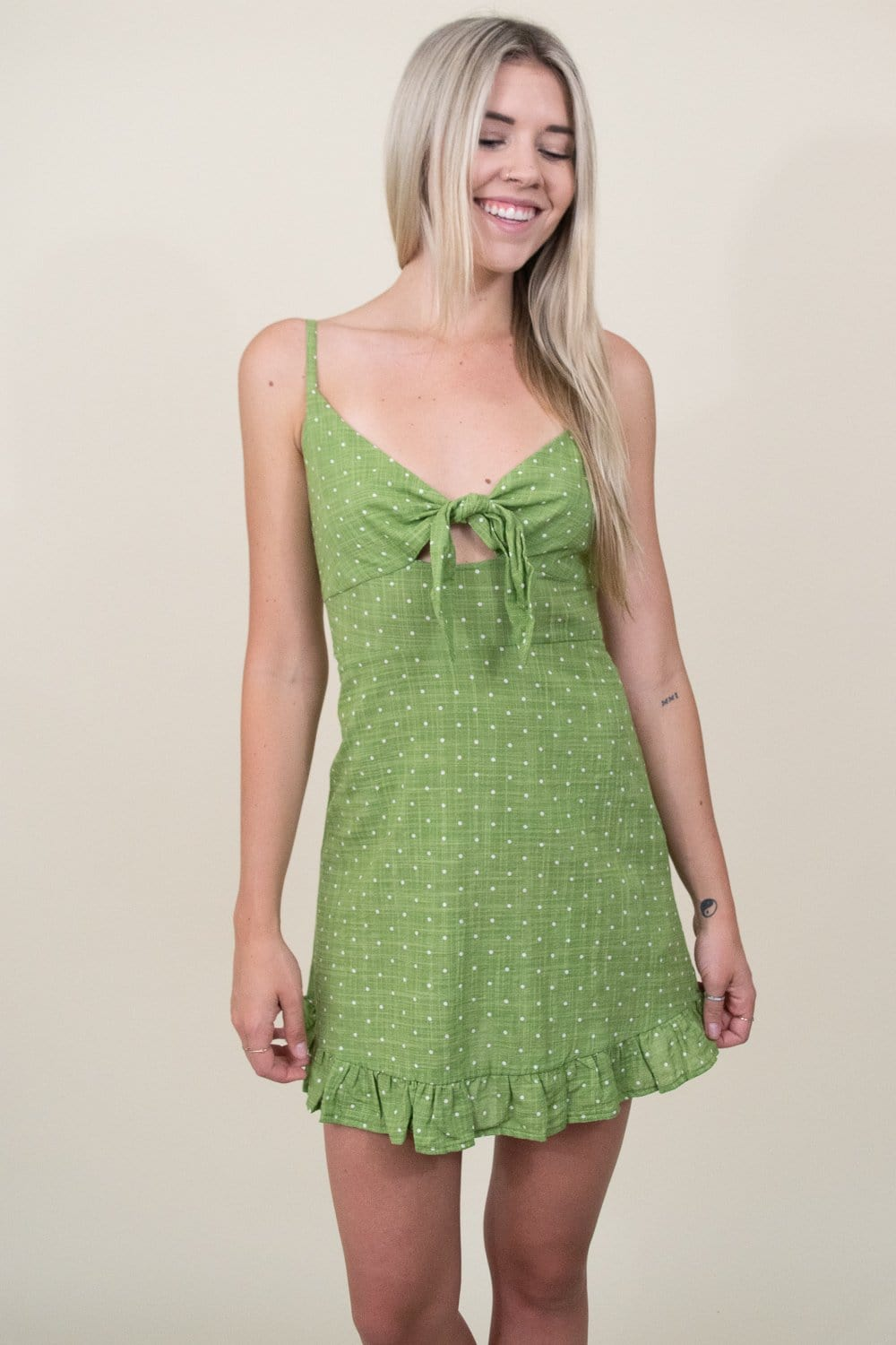 MINKPINK Safari Star Light Mini Dress in Green  | Wild Dove Boutique | San Diego, CA