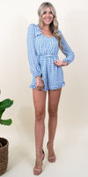 Ali & Jay Lovely As Can Be Romper in Chambray