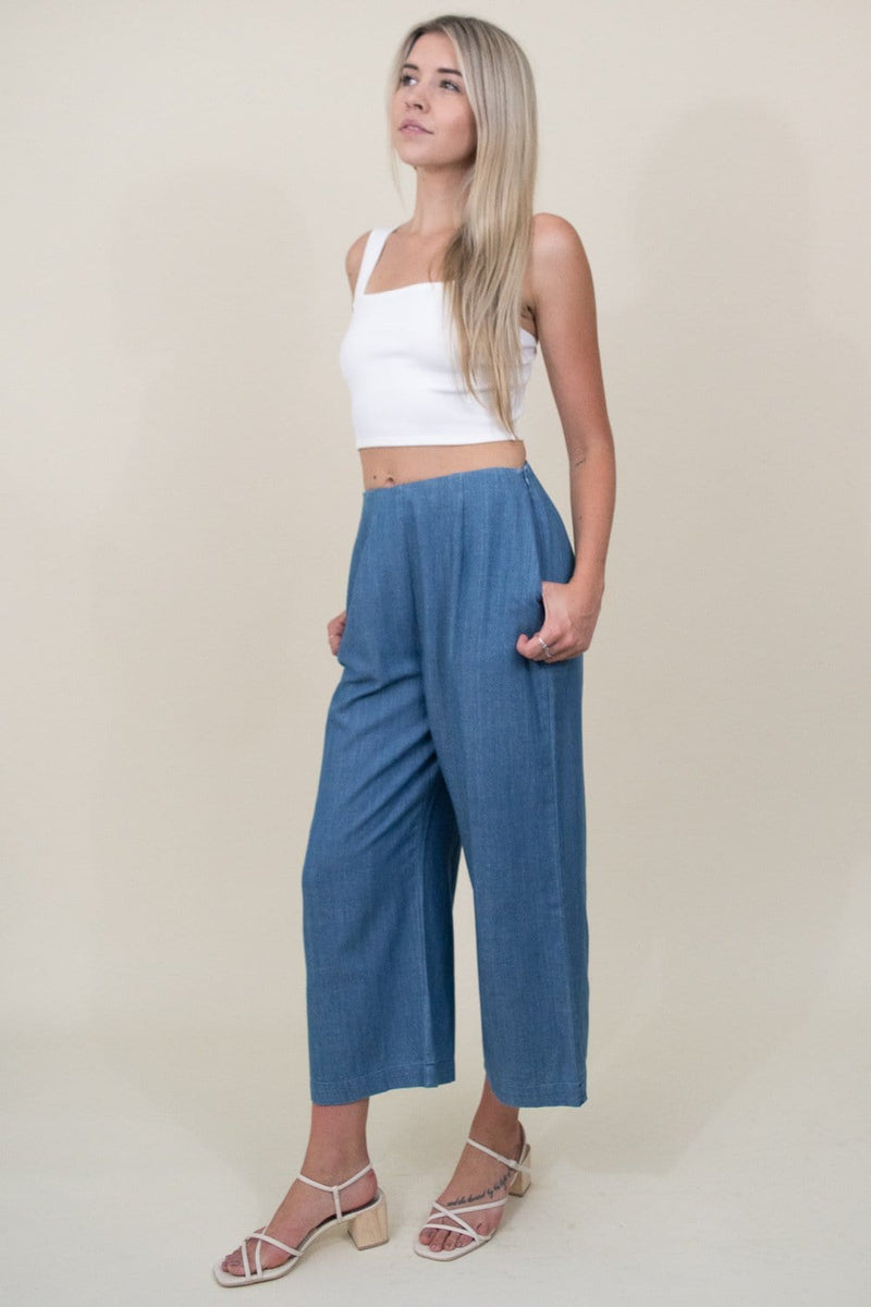 Amuse Society easy love crop top in Casa Blanca