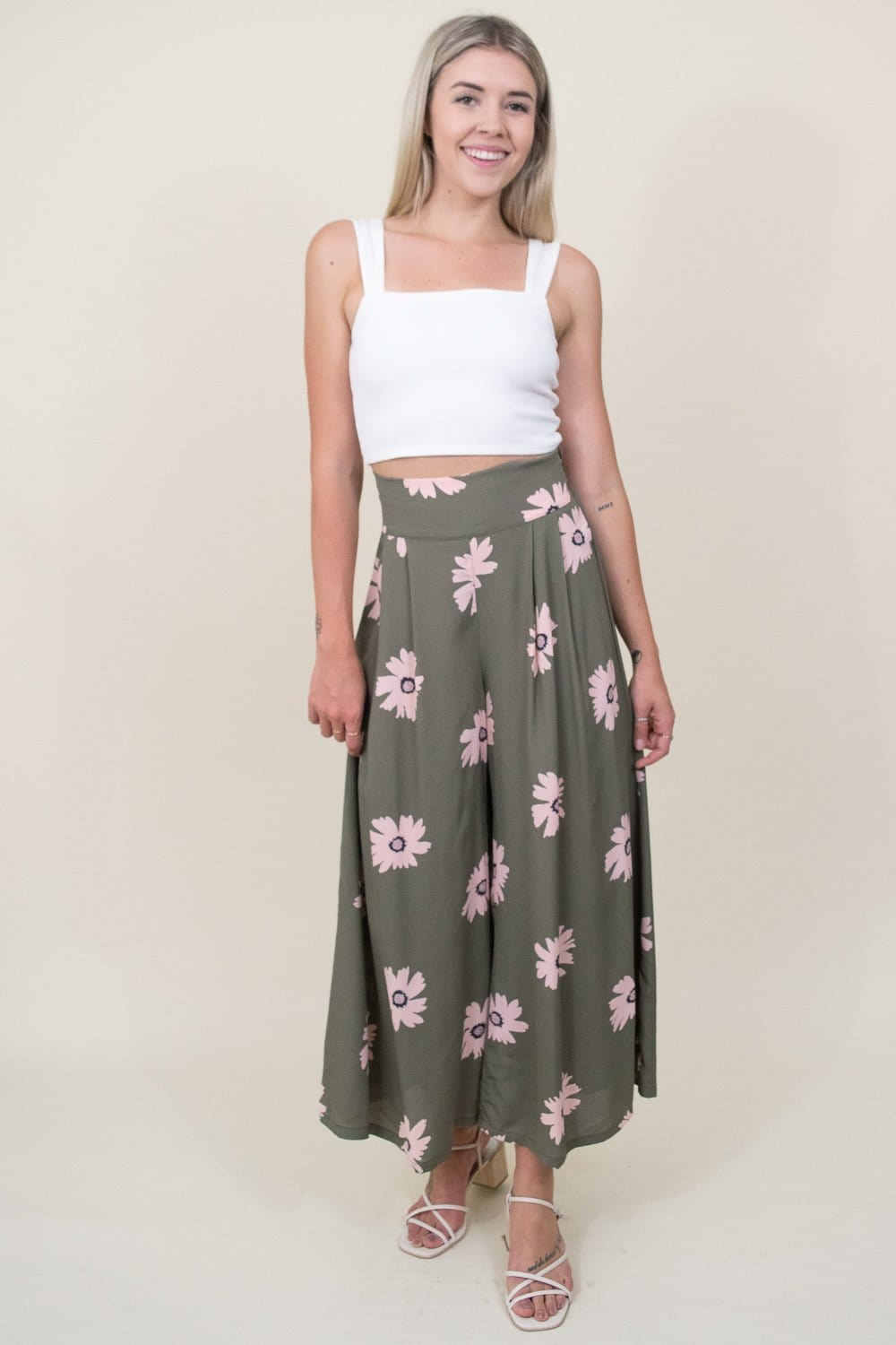 GOLDYN Perfect Palazzo Pant in Sage Floral