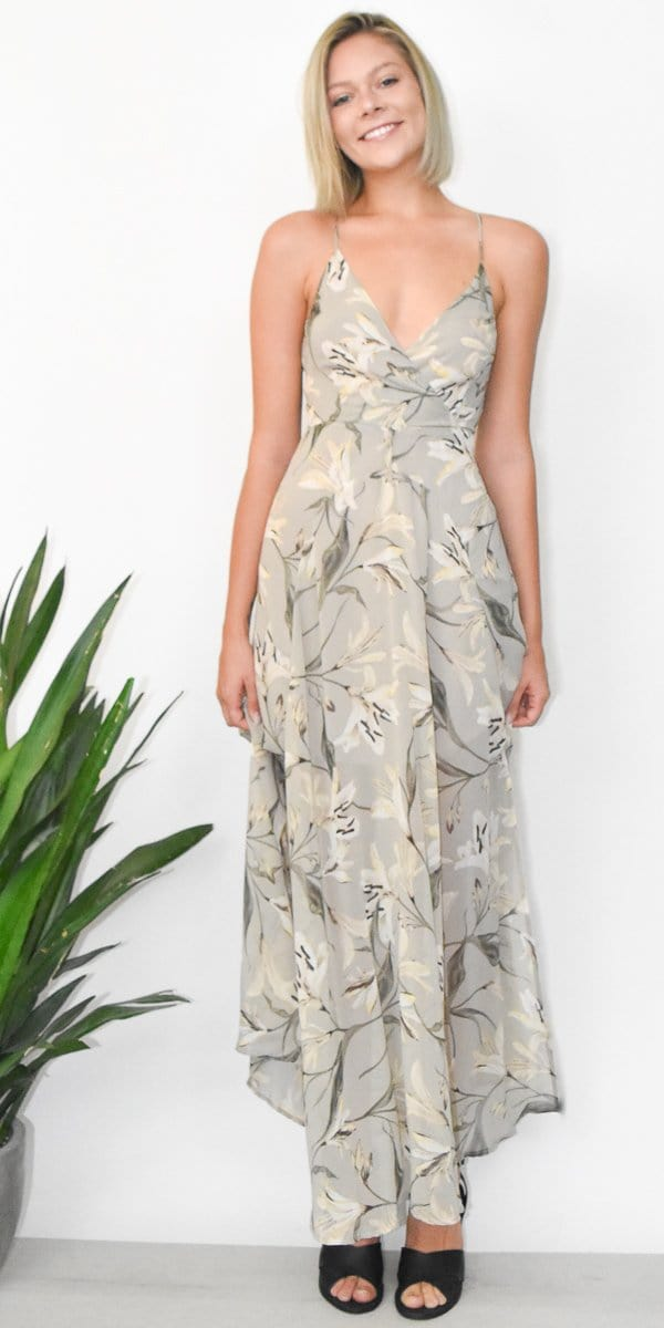 ASTR The Label Tie Back Maxi Dress