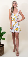 MINKPINK Lemon Bloom Mini Dress in Multi