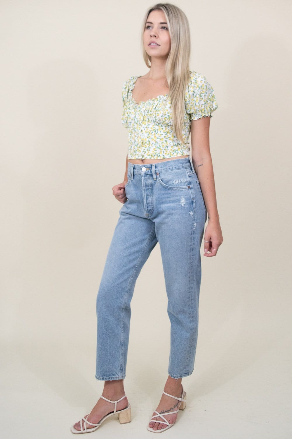 ASTR The Label Rita Top in Lemon Drop