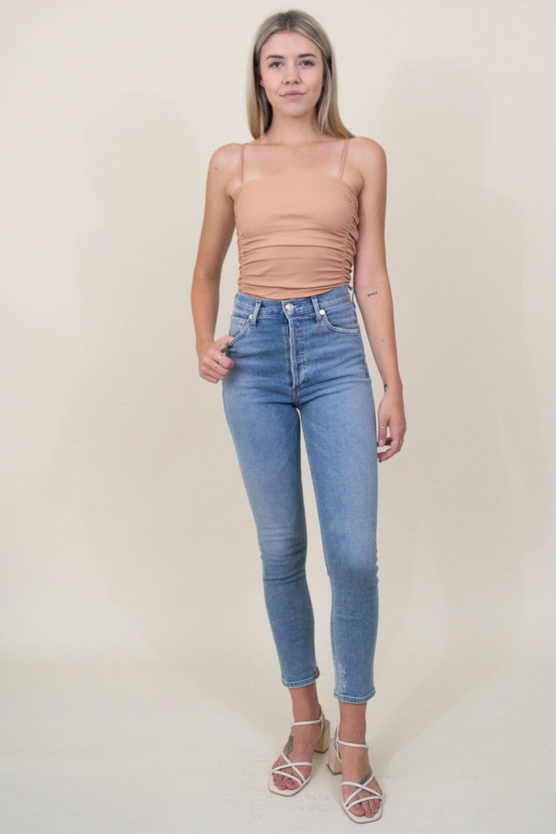 Free People On Your Side Bodysuit Fossil Clay