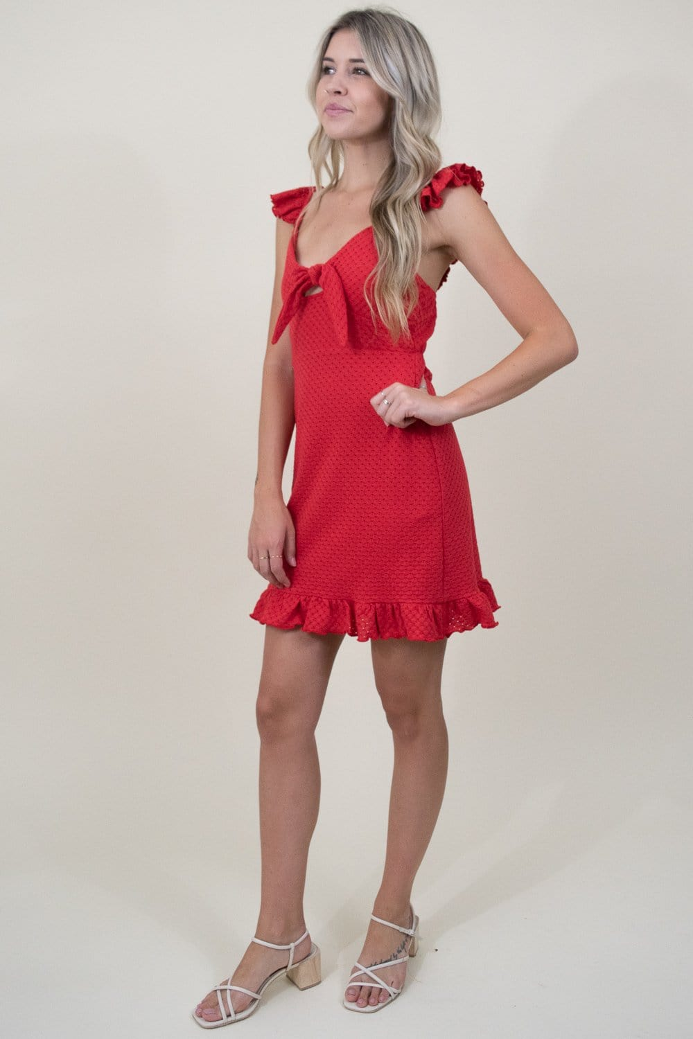 MINKPINK Laurel Mini Dress in Red