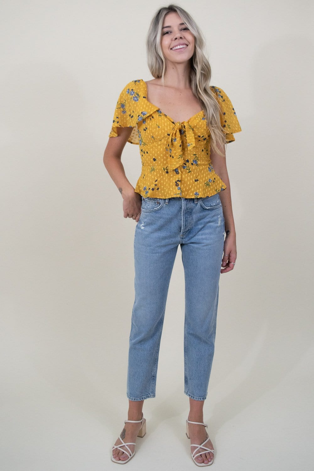 ASTR The Label Karla Top in Marigold