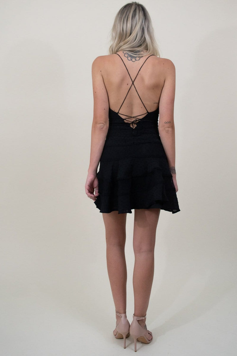 Le Reveur Black Mini Party Dress  | Wild Dove Boutique | San Diego, CA