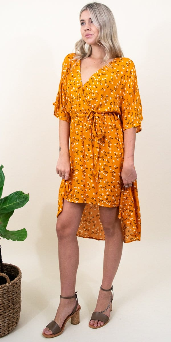 MINKPINK Delicate Daze Midi Dress in Orange Multi