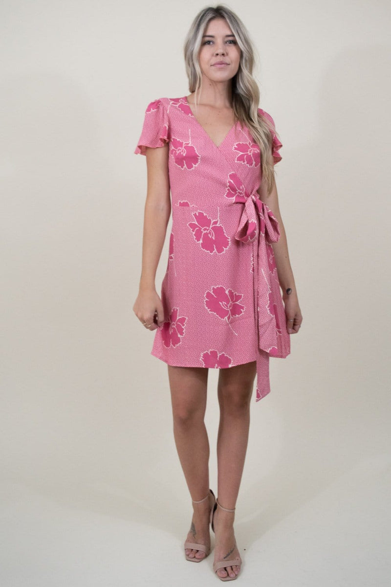 Show Me Your Mumu Grace Wrap Dress in Lovey Floral Crepe