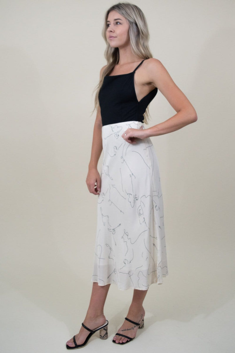 ASTR The Label Pamela Skirt in Ballet Sketch