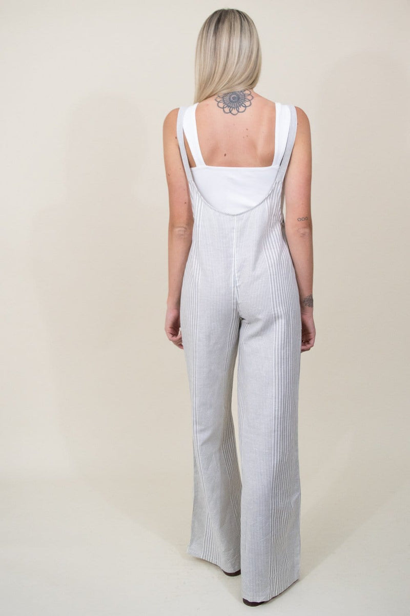 Amuse Society Fina Overall Woven Jumpsuit