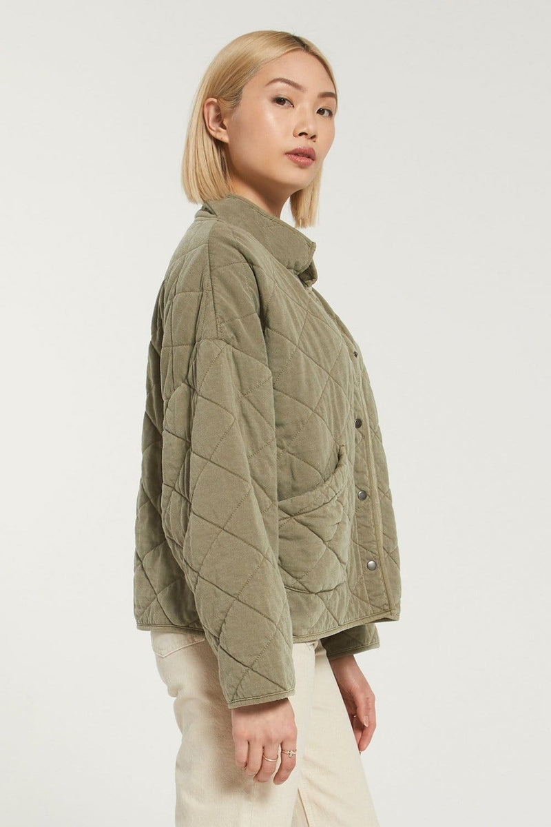 Z Supply Maya Quilted Jacket Olive