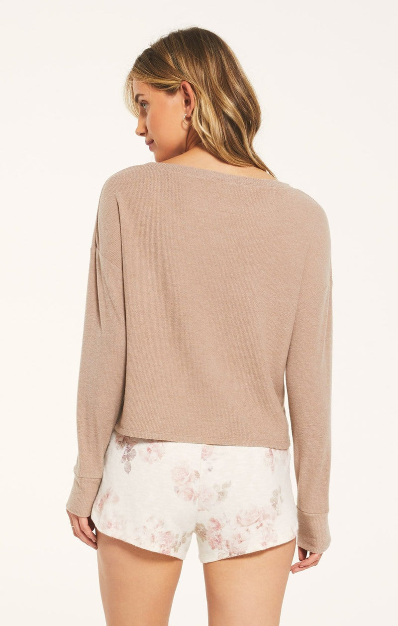 Leila Rib Long Sleeve Top