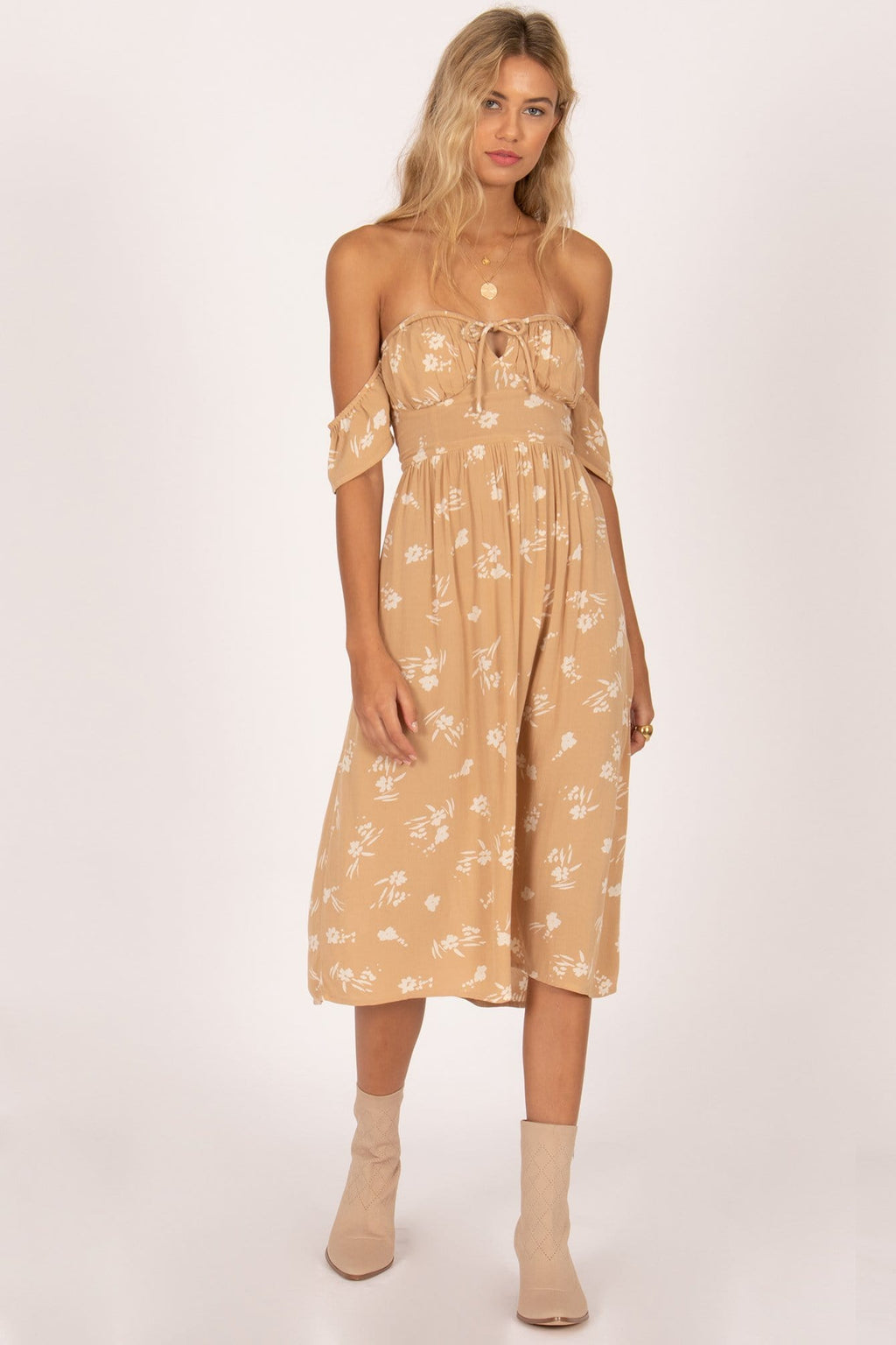 Amuse Society Regency Midi Dress Latte | Wild Dove Boutique | San Diego, CA