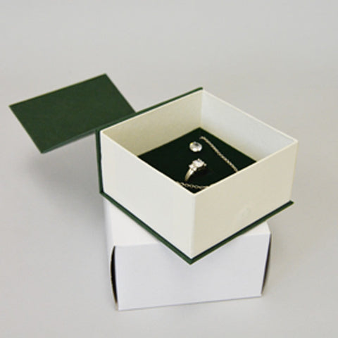 Magnet Lid Combo Box Green - JewelryPackagingBox.com