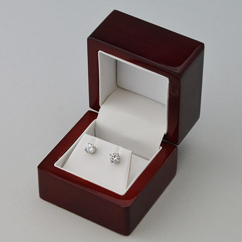 Wood Earring Box - JewelryPackagingBox.com