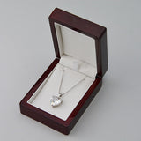 Wood Pendant Box - JewelryPackagingBox.com