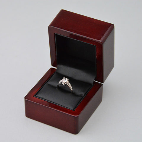 Wood Ring Box - JewelryPackagingBox.com