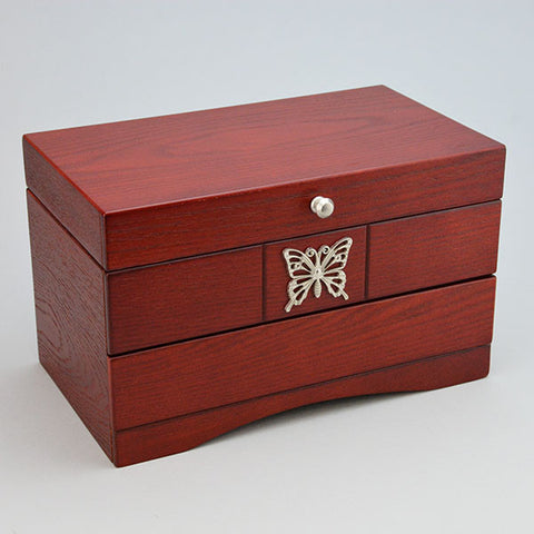 "Rosewood Jewelry Box 10 1/2"" x 6"" x 6 1/2"" high - JewelryPackagingBox.com"