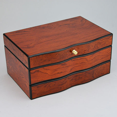 "Wood Jewelry Box 11 1/2"" x 7 1/2"" x 5 1/2"" - JewelryPackagingBox.com"