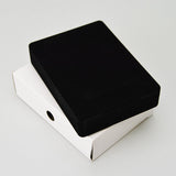 Flocked Large Pendant Box - JewelryPackagingBox.com